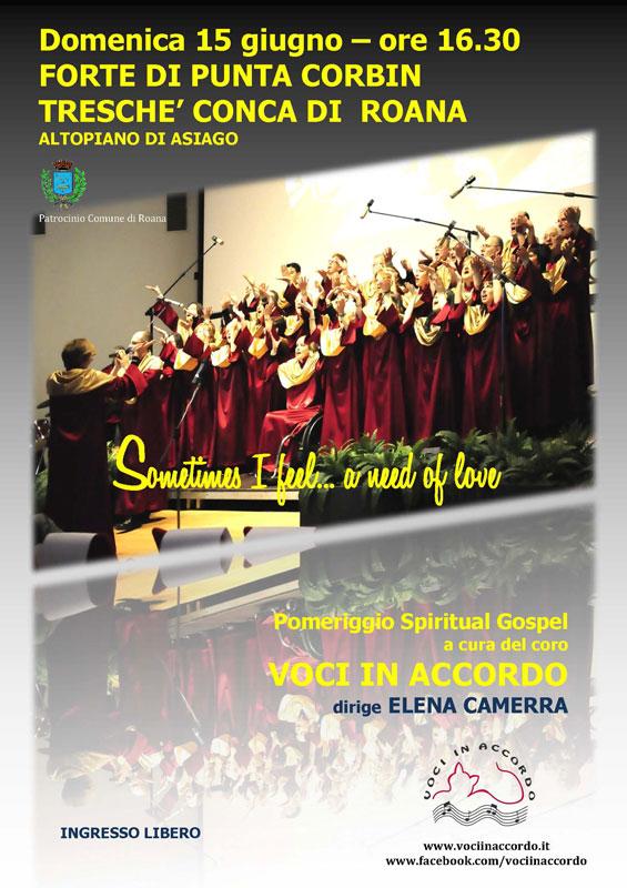 POMERIGGIO SPIRITUAL GOSPEL Altopiano di Asiago
