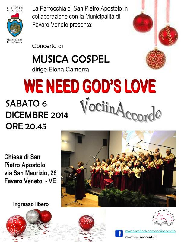WE NEED GOD'S LOVE Favaro