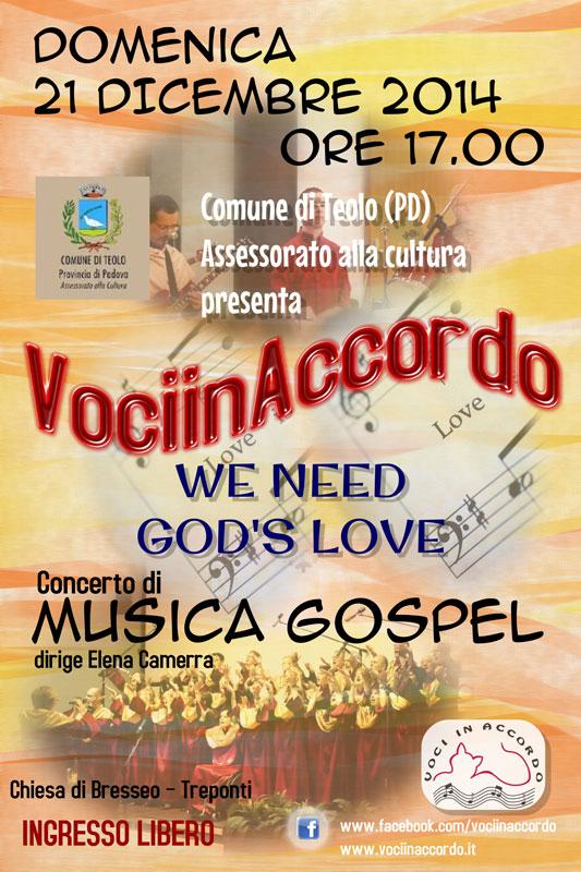WE NEED GOD'S LOVE Teolo