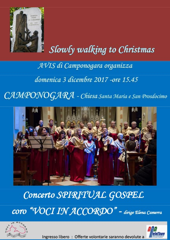 SLOWLY WALKING TO CHRISTMAS Camponogara